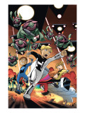 Power Pack: Day One 4 Cover: Zero-G, Mass Master, Lightspeed and Energizer Prints by Gurihiru Unknown