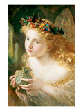 Fairy Premium Giclee Print by Sophie Gengembre Anderson