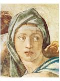 Chapel Sistine, The Delphic Sibyl Premium Giclee Print by  Michelangelo Buonarroti