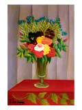 Flowers Lavender Premium Giclee Print by Henri Rousseau