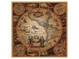 Cartographica II Giclee-tryk i høj kvalitet