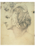 Drawing of A Woman Premium Giclee Print by  Michelangelo Buonarroti