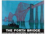 The Forth Bridge Giclee-tryk i høj kvalitet
