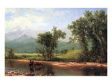 Wind River Mountains, Wyoming Premium Giclee Print by Albert Bierstadt