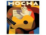 Cubist Mocha I Giclee-tryk i høj kvalitet af Eli Adams