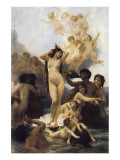 The Birth of Venus Premium Giclee Print by William Adolphe Bouguereau