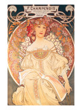 F. Champenois, France, 1898 Premium Giclee Print by Alphonse Mucha