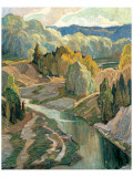 The Valley, c.1921 Premium Giclee Print by Franklin Carmichael