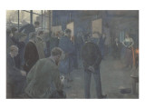 Painting School Premium Giclee Print by Hans Baluschek