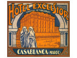 Hotel Excelsior, Casablanca, Maroc Giclee-tryk i hj kvalitet