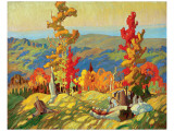 Autumn in the Northland Exklusivt gicléetryck av Franklin Carmichael