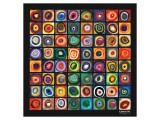 Farvestudie af kvadrater Giclee-tryk i høj kvalitet af Wassily Kandinsky