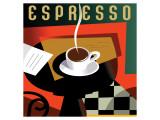 Cubist Espresso I Giclee-tryk i høj kvalitet af Eli Adams