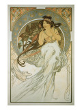 The Arts: La Musique Premium Giclee Print by Alphonse Mucha