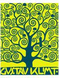 Blue Tree of Life Gicléetryck på högkvalitetspapper av Gustav Klimt