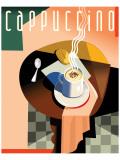 Cubist Cappucino II Giclee-tryk i høj kvalitet af Eli Adams