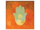 Guilded Hamsa I Giclee-tryk i høj kvalitet