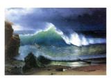 Coast of Emerald Lake Giclee-tryk i høj kvalitet af Albert Bierstadt