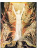 God Writing the Commandments Boards Giclée-Premiumdruck von William Blake