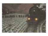 To the Mine Premium Giclee Print by Hans Baluschek