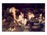 Hylas and Nymphs Premium Giclee-trykk av John William Waterhouse