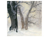 Snow Covered Oaks in the Sun Wydruk giclee premium autor Eugen Bracht