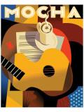 Cubist Mocha II Giclee-tryk i høj kvalitet af Eli Adams
