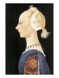 A Young Lady of Fashion Giclee-tryk i høj kvalitet af Paolo Uccello