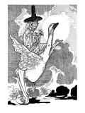Mother Goose Premium Giclee Print by Charles Robinson