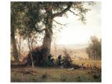Rebellion, Picketline in Virginia Giclee-tryk i høj kvalitet af Albert Bierstadt