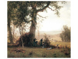 Rebellion, Picketline in Virginia Premium Giclee Print by Albert Bierstadt