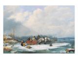 Winter Landscape, c.1849 Wydruk giclee premium autor Cornelius Krieghoff