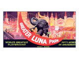 Greater Luna Park, The Worlds Greatest Playground Lámina giclée de primera calidad