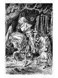 Through The Looking Glass Premium Giclee Print by John Tenniel