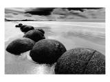 Beach Horizon, New Zealand Premium Giclee Print