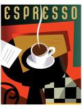 Cubist Espresso II Giclee-tryk i høj kvalitet af Eli Adams