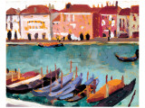 Gondoles a Venise Gicléetryck på högkvalitetspapper av James Wilson Morrice