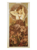 The Precious Stones: L'Amethyste Premium Giclee Print by Alphonse Mucha