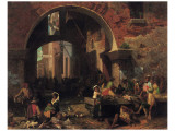 Roman Fish Market Premium Giclee Print by Albert Bierstadt