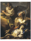 Hagar And Ismael In The Wilderness Premium Giclee Print by Giovanni Battista Tiepolo