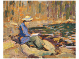 My Wife, Sackville River Premium Giclee Print by Arthur Lismer