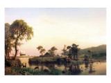 Gosnold on the Island of Cuttyhunk Premium Giclee Print by Albert Bierstadt
