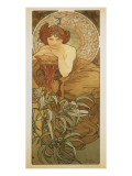 The Precious Stones: L'Emeraude Premium Giclee Print by Alphonse Mucha