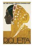 Riquetta Schkolade Premium Giclee Print by Ludwig Hohlwein