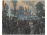 Ironworks Premium Giclee Print by Hans Baluschek