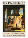 Ringing Out Liberty Premium Giclee Print by Newell Convers Wyeth