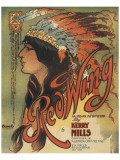 Song Sheet Cover: Red Wing, an Indian Intermezzo by Kerry Mills Premium Giclee Print