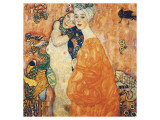 The Girlfriends Premium giclée print van Gustav Klimt