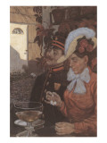 Idyll with Wheat Beer Premium Giclee Print by Hans Baluschek