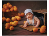 Orange You Glad Lámina giclée de primera calidad por Linda Johnson